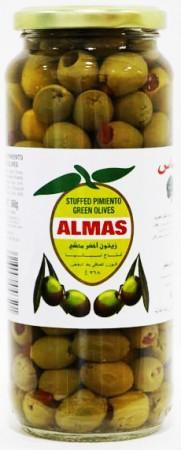 Almas Green Olives Pimento Stuffed 368 Gm