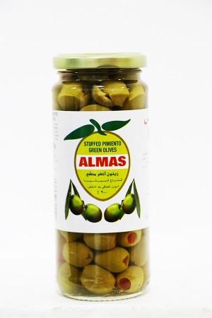 Almas Green Olives Pimento Stuffed 200 Gm
