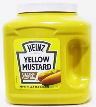 Heinz Yellow Mustard 2.95 Kg - 104 OZ