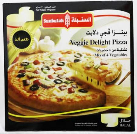 Sunbulah Veggie Delight Pizza 470 Gm - Frozen