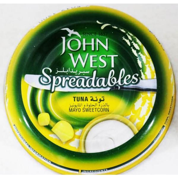 John West Spredables Tuna Mayo Sweetcorn 80 Gm