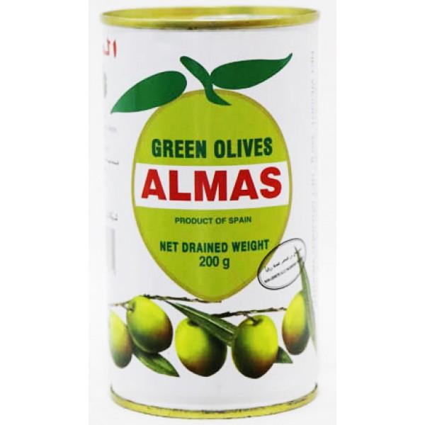 Almas Green Olives 200 Gm