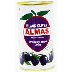 Almas Black Olives 200 Gm