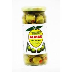 Almas Green Olives Pimento Stuffed 140 Gm